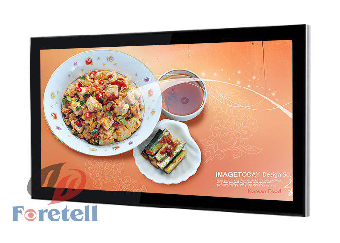 Wireless Wall Mounted Digital Signage Menu Boards Support Multi Language