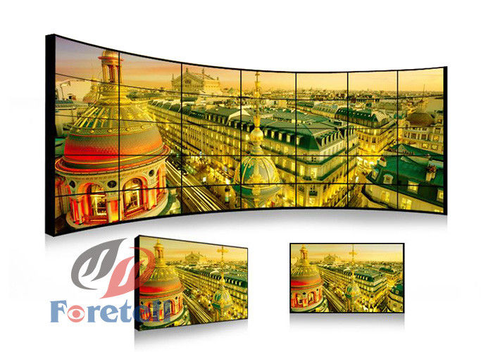High Resolution Interactive Video Wall Large Multi Touch Screen Monitors For Bank