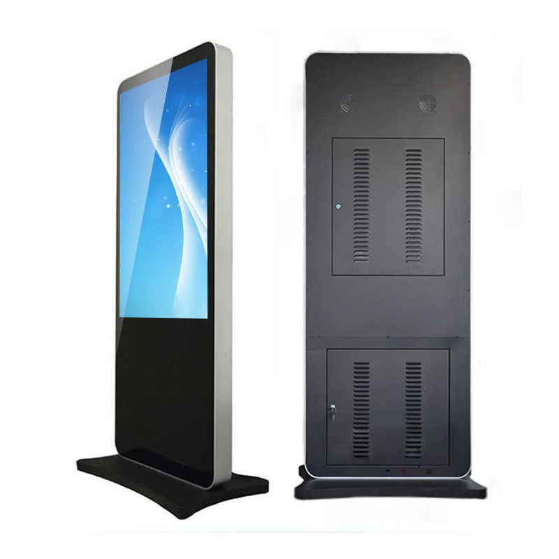HDMI Input Standing Lcd Advertising Kiosk Digital Signage Touchscreen CE ROHS