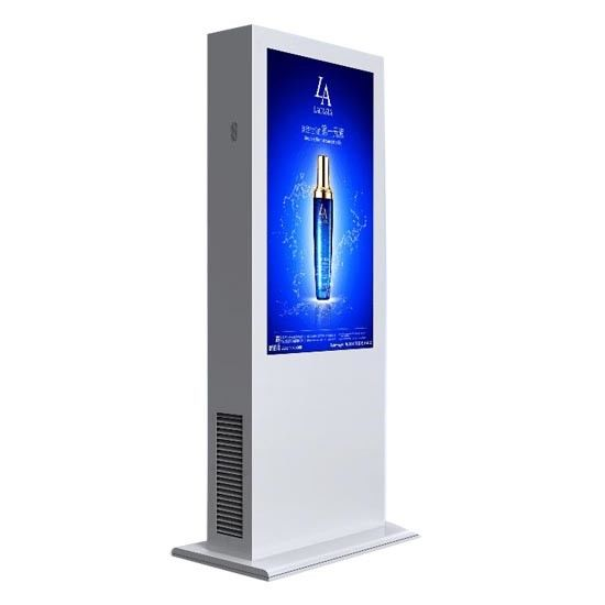 55 Inch High Brightness IP65 Floor Standing Outdoor Digital Signage All Weather Working