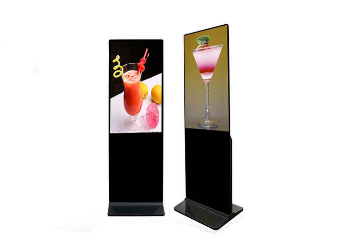 Ultra Thin Led Backlight Display 43 Inch Floor Standing Lcd Advertising Signage